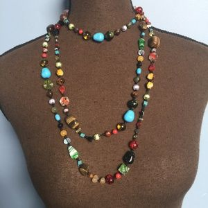 Cookie Lee Mixed Bead Long Necklace